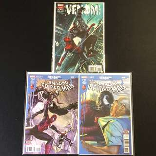 Venom Inc #1 (Granov variant cover), #2 (Amazing Spider-man #792), #4 (Amazing Spider-man #793)