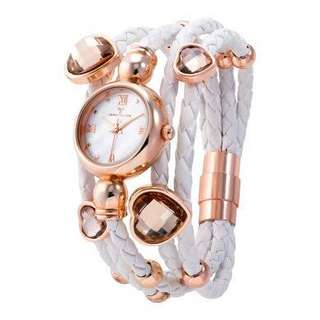 Temptation white wrap lady watch