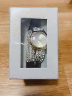 Temptation wrap watch with crystal