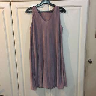 NEW! Pale Purple Micro Pleated Shift Dress