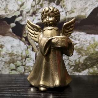 Brass angel candle stick
