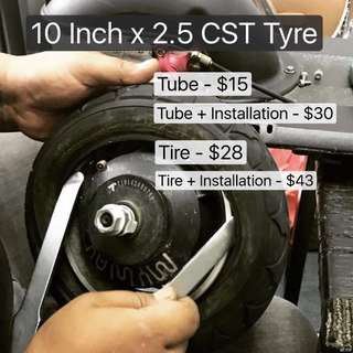 10 inch Tire and tube for Electric Scooter