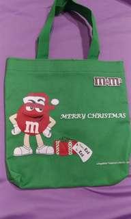 🚚 滿137免運  全新 m&m's 巧克力 聖誕禮物 小提袋 禮物袋 帆布小提袋