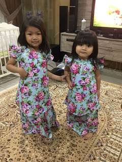 sweet baju raya for kids