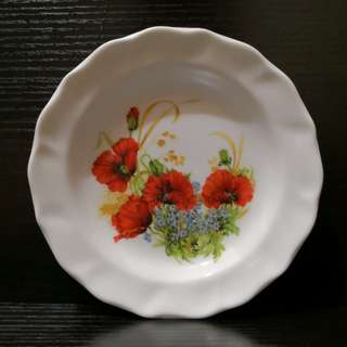 Flower decor plate