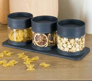 Minimalist Cookie container Jar Set