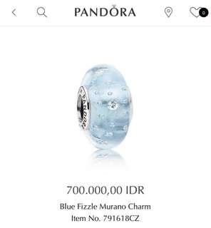 Pandora charm glass murano 2pcs