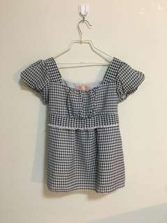 Vintage Checkered Lace Top