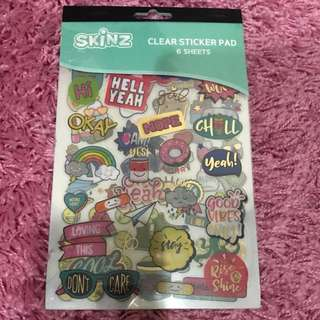 Clear Sticker Pad <Words>