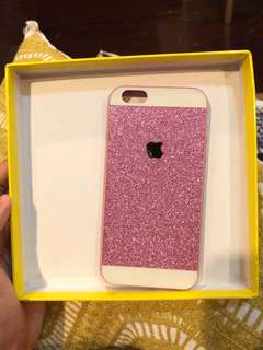 iPhone 6 Pink Glittery Case