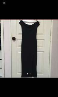 Black Off Shoulders Maxi Dress