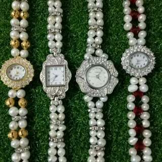 Jam tangan fashion mutiara air masin