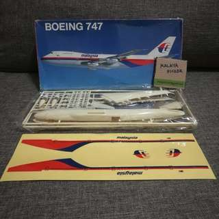 Vintage MAS Boeing 747 Scale Model 1:300