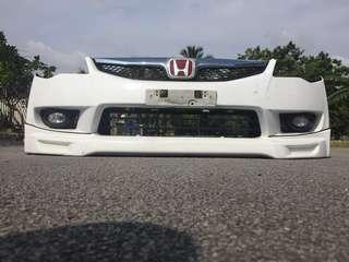 Front bumper & spoiler honda fd2
