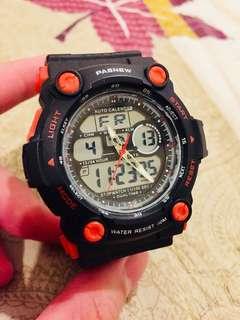 🚚 Pasnew PSE-367A 雙顯數位錶(紅黑配色)