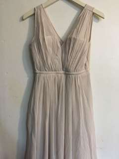 Beige Prom Dress / Gown