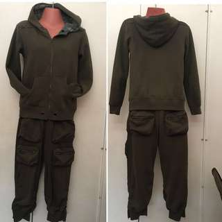 Jacket and Cargo Pedal Pusher Terno