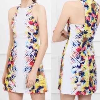 New saturday club mirror print dress