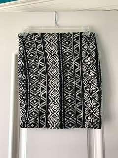 Forever 21 tribal skirt