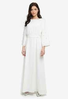 Zalia Floral Applique Dress