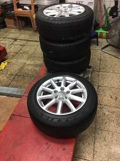 AUDI Wheel 5/112 16吋 ET45 7.5J 售$9900 含胎 台北地區可協助安裝