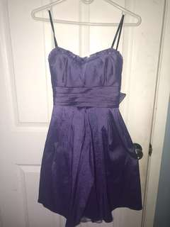 Sweetheart purple dress (strapless)