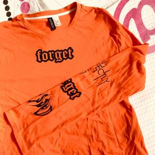 Forget Orange Long Sleeve