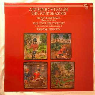 Vivaldi The Four Seasons Simon Standage Pinnock Fidelio FL 3359