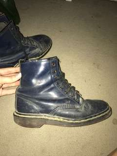 Navy Blue Doc Martens