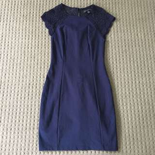Forever New navy fitted dress