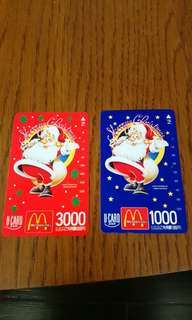 絕版日本Mcdonald 電話card (只限郵寄, 包郵)