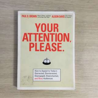Your Attention Please by Paul Brown and Alison Davis