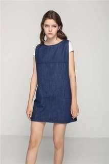 Sleeveless Denim Dress CF*ready stock*