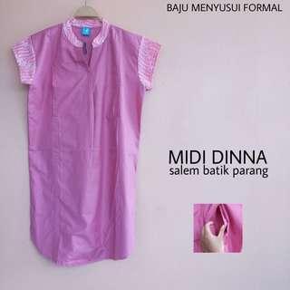 Midi Dinna Pink Batik Baju Menyusui