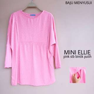 Mini Ellie Pink Baju Menyusui