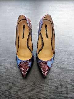 Zara Jacquard Court Shoes