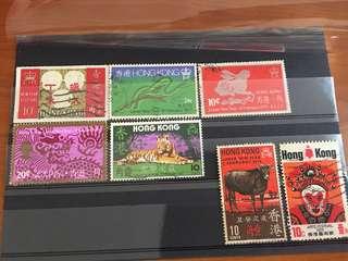 香港郵票 1970 年代. (包郵)