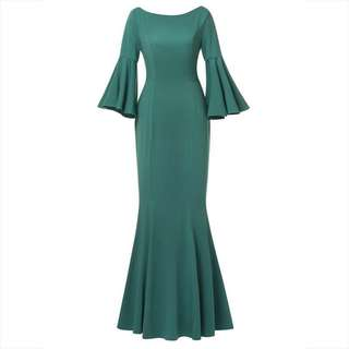 Raya 2018 Flare Sleeve Mermaid Dress