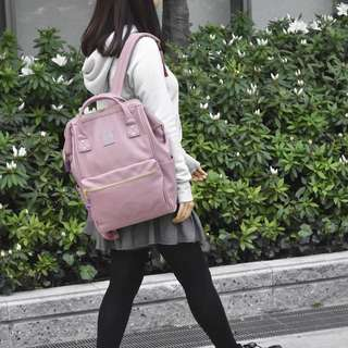 💯 [AT-B1211] 2018 NEW COLOUR!!ANELLO LARGE SYNTHETIC PU LEATHER BACKPACK - LAVENDER