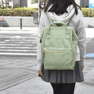 💯 [AT-B1211] 2018 NEW COLOUR!! ANELLO LARGE SYNTHETIC PU LEATHER BACKPACK - MINT GREEN