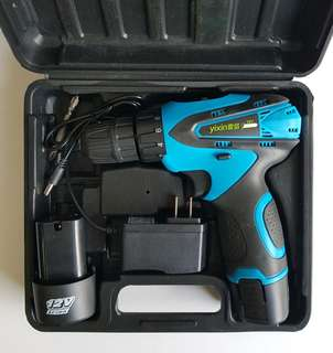 New 12Volts Double Speed Cordless Driver Drill