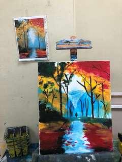 Acrylic Painting - Autumn Stroll