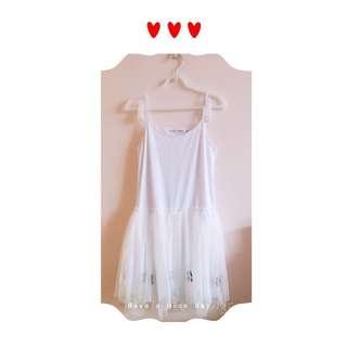 🚚 🍒櫻桃白色內搭洋裝