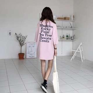 🌸[PO] Oversized T-Shirt Dress