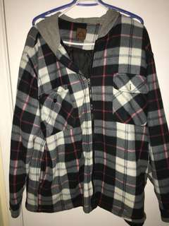 Plaid lightweight jacket