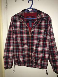 Plaid windbreaker