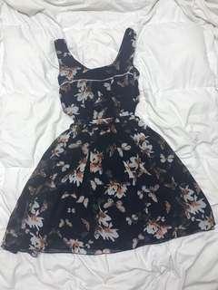 🔶 Katie - Blue Floral Sleeveless Dress (SM)