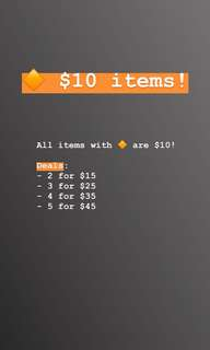 🔶 $10 ITEMS SALE 🔶