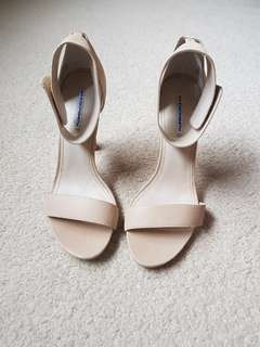 Windsor Smith leather ankle strap heels