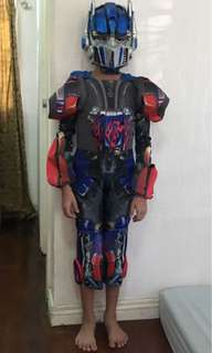 Transformers optimus prime costume with mask